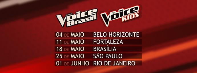 Calendário The Voice BH (Foto: Gshow)