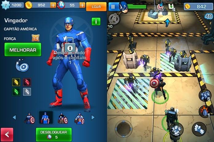 Smartphone ou tablet deve ser segurado no modo retrato em Captain America: TWS (Foto: Reprodução / Dario Coutinho)