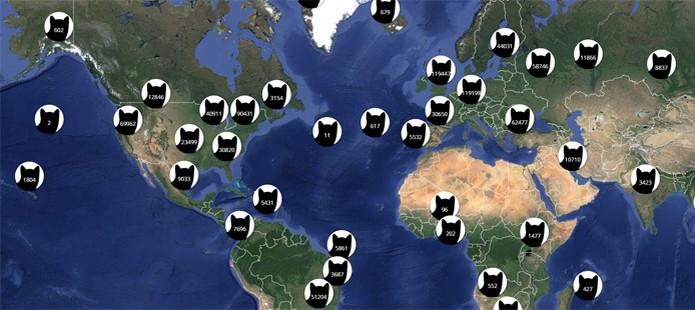 Google Maps gatos (Foto: Reprodução/I Know Where Your Cat Lives)