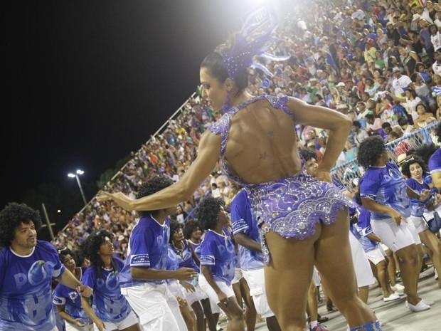 Gracyanne Barbosa em ensaio da Portela na Marquês de Sapucaí, no Centro do Rio (Foto: Daniel Pinheiro/ Ag. News)