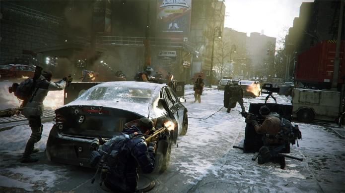The Division traz um belo mundo aberto porém também caótico em seu multiplayer online (Foto: Reprodução/GameSpot)