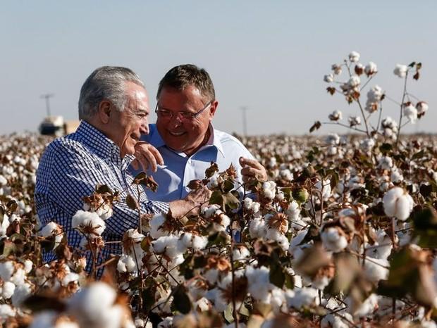 O presidente Michel Temer e o ministro da Agricultura, Blairo Maggi (Foto: reprodução )