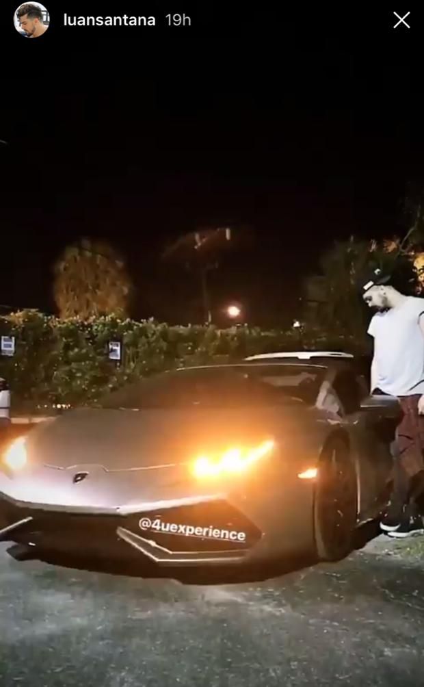 Luan Santana alugou Lamborghini para passear nos EUA (Foto: Reprodução/Instagram)