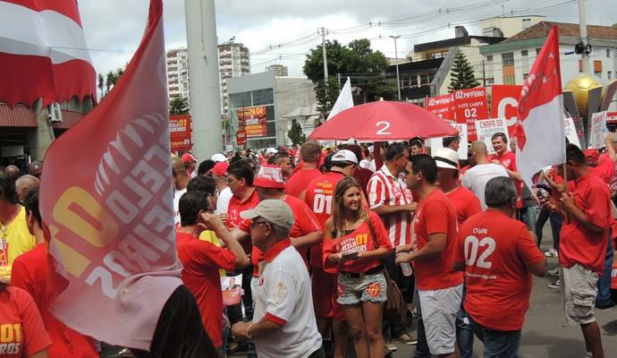 Eleição Inter Beira-Rio Gigantinho (Foto: Tomás Hammes / GloboEsporte.com)