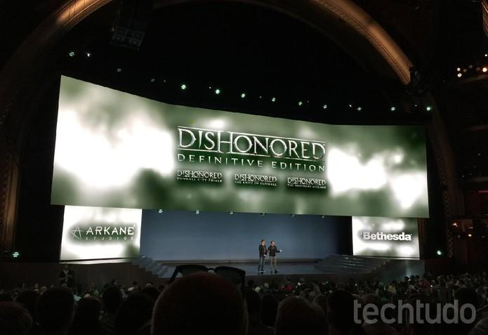 Dishonored Definitve Edition traz o game original e todos os conteúdos adicionais (Foto: Viviane Werneck/TechTudo)