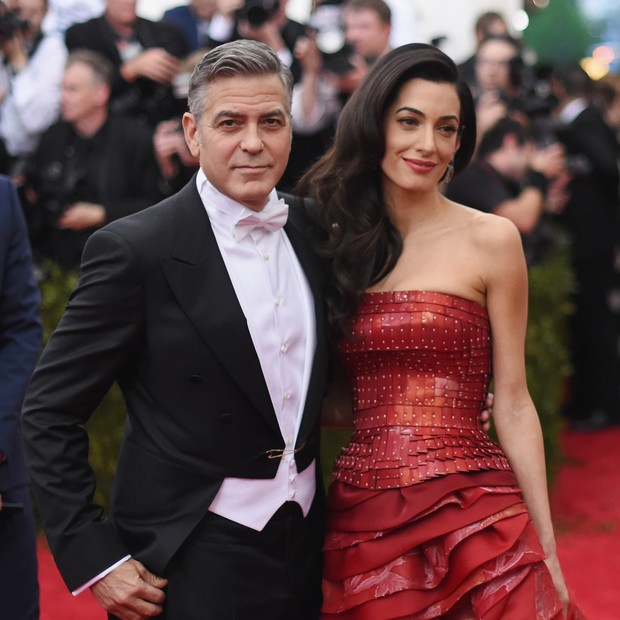 George Clooney e a mulher, Amal Alamuddin (Foto: Getty Images)
