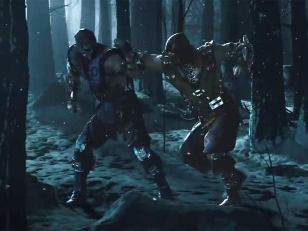 Sub-Zero e Scorpion travam combate sangrento em trailer de 'Mortal Kombat X' (Foto: Reprodução/YouTube/Netherrealm)