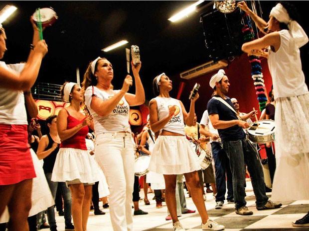 Ensaio do Bloco Baiana Ozadas (Foto: Renata Andrade/ Arquivo pessoal)