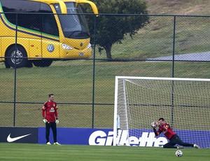 Treino goleiros da seleção brasileira (Foto: EfeServicios)