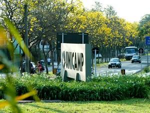 Entrada do campus de Barão Geraldo, em Campinas (Foto: Antonio Scarpinetti/ Ascom/ Unicamp)