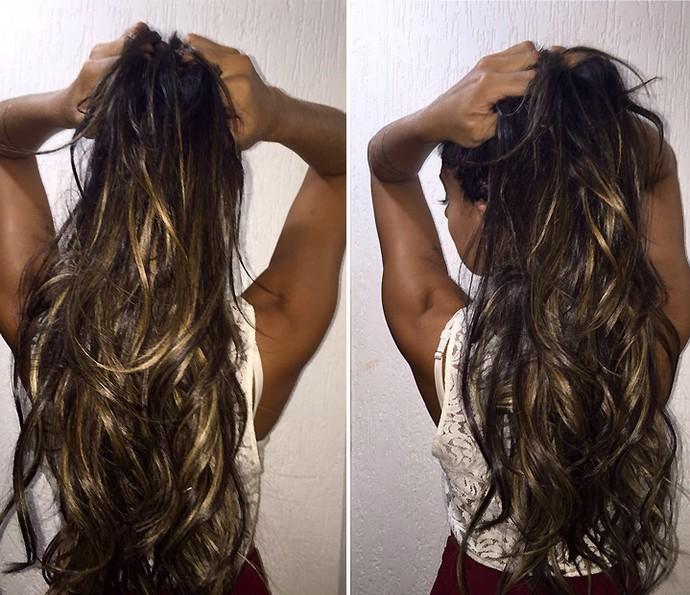 Juliana Dias novo cabelo (Foto: Arquivo pessoal)