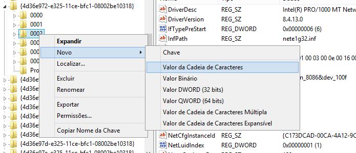 Crie um novo item do tipo Valor de Cadeia de Caracteres (Foto: Reprodução/Helito Bijora)