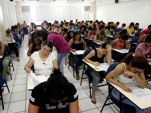 Aplicação de provas do concurso para Prefeitura de Imperatriz, MA (Foto: Divulgação)