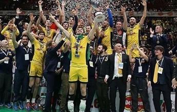 Com Bruninho e Lucão, Modena passa fácil pelo Trentino e é bi da Copa Itália
