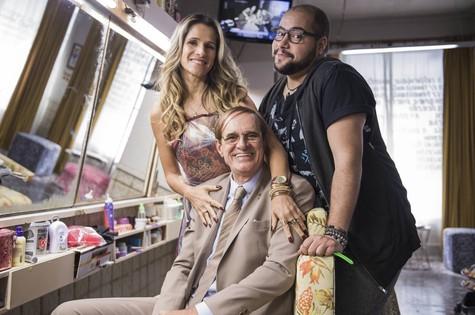 Ingrid Guimarães, Marcos Caruso e Tiago Abravanel (Foto: TV Globo/Caiuá Franco)