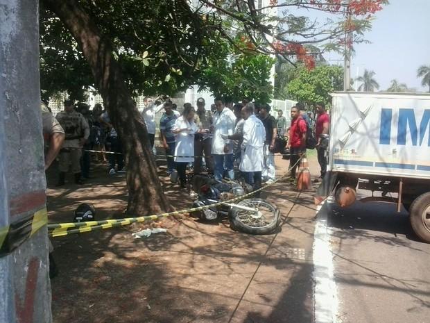 Um homem morreu após assalto na quadra 108 norte, em Palmas (Foto: Divulgação/Edson Reis Fernandes/G1)