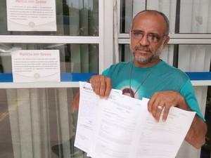 Elias Vieira teve sua perícia médica remarcada duas vezes em 20 dias (Foto: André Resende/G1)