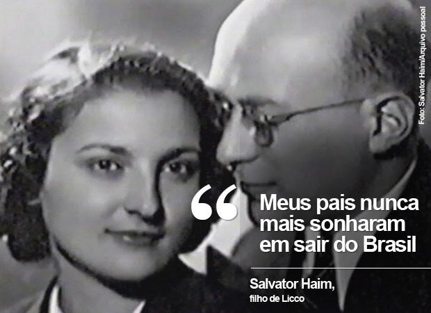 Frase Licco Salvator Haim (Foto: Salvator Haim/Arquivo pessoal)