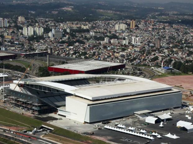 Itaquerão, na zona oeste de São Paulo, recebe neste domingo seu primeiro jogo oficial (Foto: Reuters)