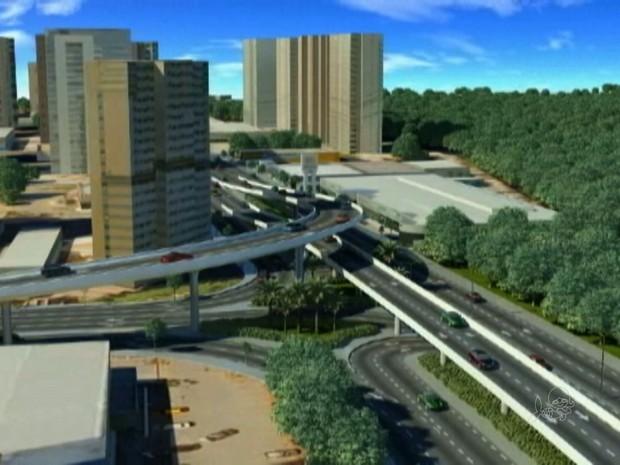 Viadutos do Parque do Cocó (Foto: Prefeitura de Fortaleza)