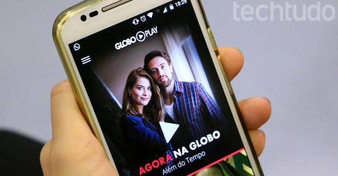 Globo Play com marca d'água (Foto: Raíssa Delphim/TechTudo)