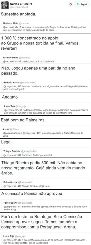 BLOG: Durou pouco: presidente do Botafogo apaga conta em rede social após 51 dias