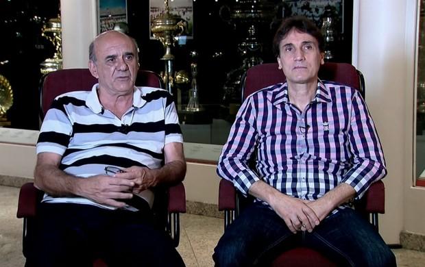 Waldir Peres e Oscar Bernardi não apontaram favorito para a semi da Sul-Americana (Foto: Reprodução / SporTV.com)
