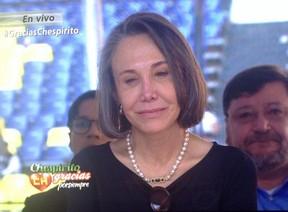 Florinda Meza chora (Foto: Reprodução/Televisa)