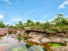 Rio de 5 cores é conhecido como 'mais bonito do mundo' na Colômbia