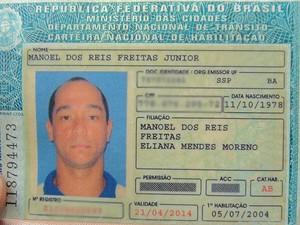 soldado  Manoel dos Reis Freitas Júnior (Foto: Ruan Melo/G1)