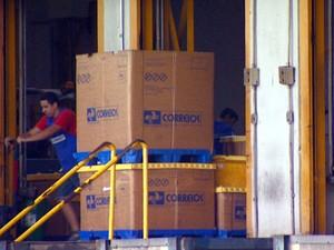 Correspondências estão paradas nas centrais dos Correios na região de Campinas (Foto: Reprodução EPTV)