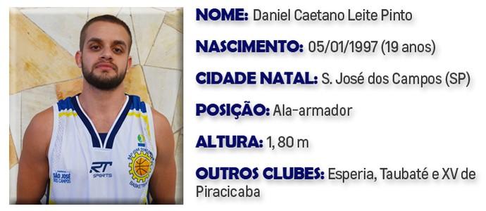 Daniel São José Basquete (Foto: Arte GloboEsporte.com)