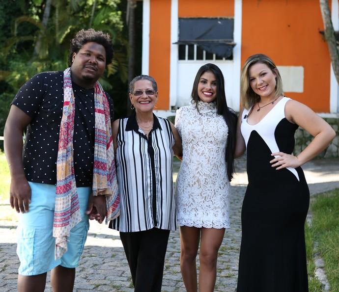 Ronan, Geralda, Munik e Cacau no Mais Você (Foto: Fabiano Battaglin/Gshow)