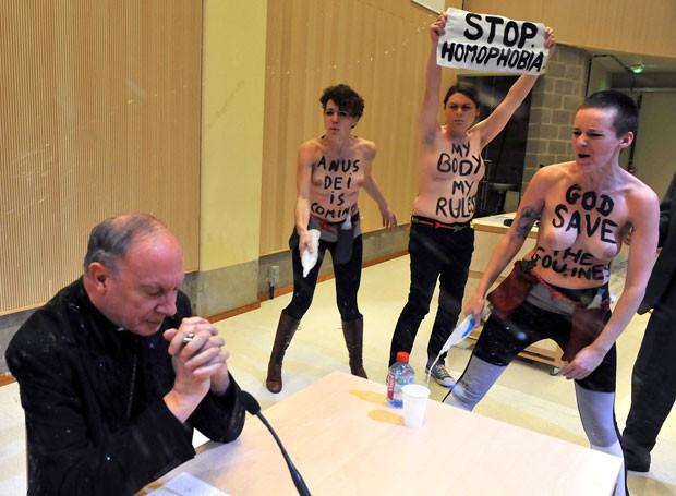 Incidente ocorreu em universidade de Bruxelas (Foto: George Gobet/AFP)