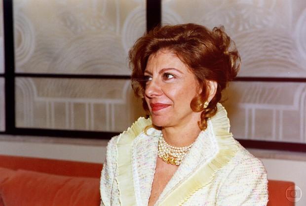 Marília Pêra no seriado Mulher, de 1998 (Foto: TVGlobo / Divulgação)