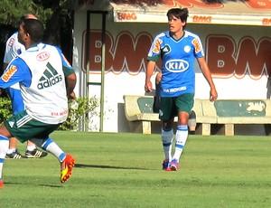 Tiago Real treino Palmeiras (Foto: Marcos Guerra / Globoesporte.com)