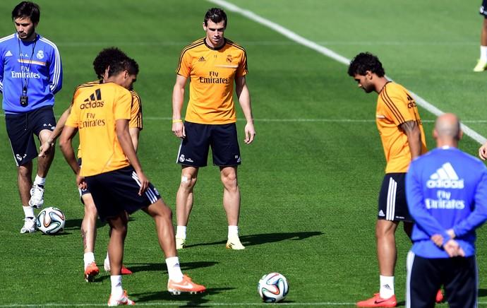 Gareth Bale treino Real Madrid (Foto: AFP)