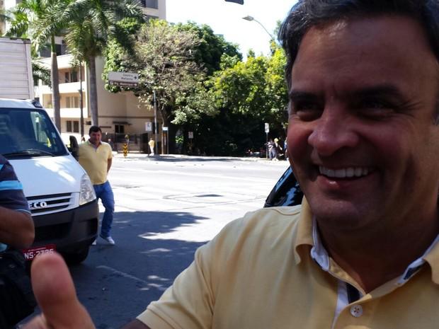 O senador Aécio Neves (Foto: Raquel Freitas/G1)