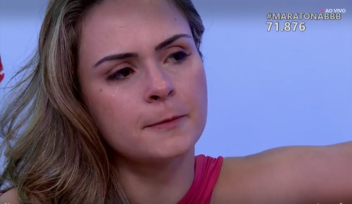 Ana Paula chora na Maratona BBB (Foto: Gshow)