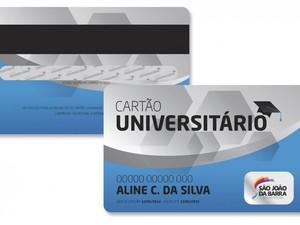 Cartão Universitário de São João da Barra, RJ (Foto: Divulgação/Prefeitura de São João da Barra)