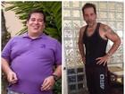 Leandro Hassum posta foto antes e depois de perder 62 quilos: 'Vitória'