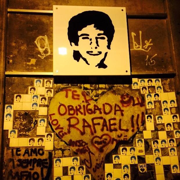 Cissa Guimarães mostra homenagem ao filho no túnel onde ele morreu (Foto: Instagram / Reprodução)