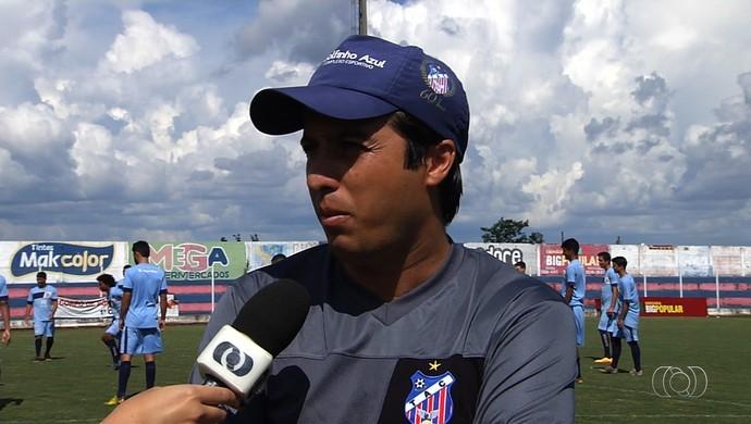 Rafael Miranda - técnico do Trindade (Foto: Reprodução / TV Anhanguera)