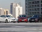Toyota Corolla, Nissan Sentra e Chevrolet Cruze: comparativo