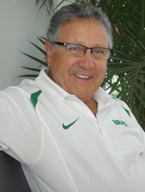 Presidente da Confederação Brasileira de Basquete, Carlos Nunes (Foto: Renata Vasconcellos / Globoesporte.com/pb)