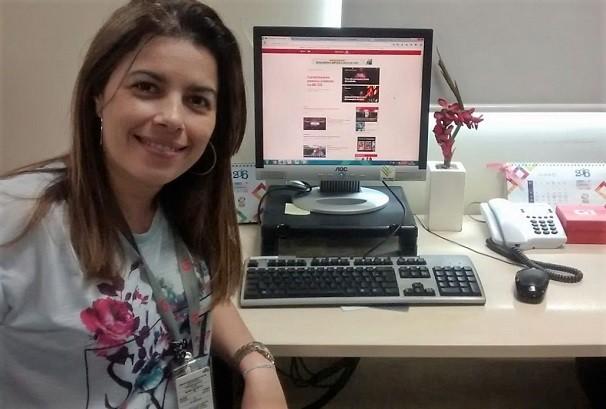 Joelma Gonçalves explica novo modelo da página do G1 Sergipe (Foto: Divulgação/TV Sergipe)