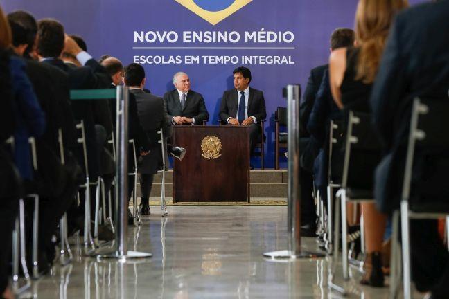 O governo divulgou nesta quinta-feira o texto da Medida Provisória que prevê uma ampla reforma do ensino médio (Foto: Carolina Antunes / PR)
