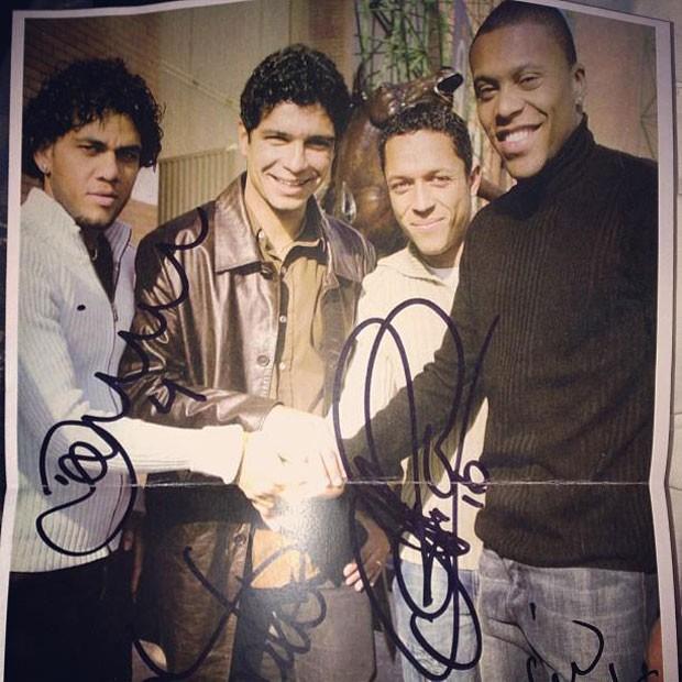 Daniel Alves, Renato, Adriano e Júlio Baptista (Foto: Reprodução / Facebook)