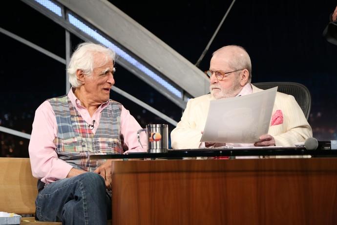 Ziraldo durante última entrevista do 'Programa do Jô' (Foto: Carol Caminha/Gshow)