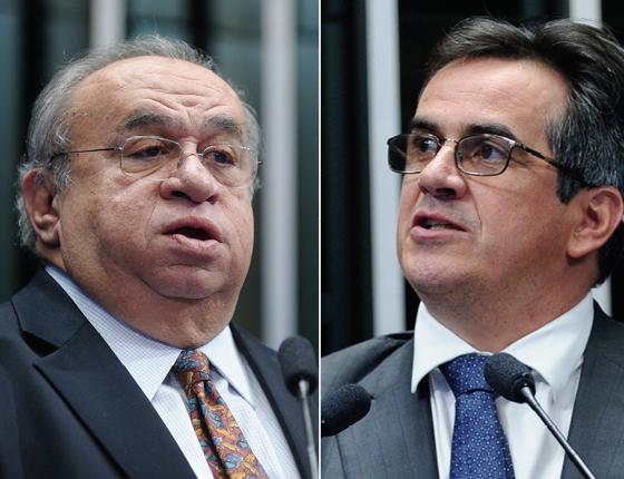 O deputado federal Heráclito Fortes (PSB) e o senador Ciro Nogueira (PP) (Foto: Marcos Oliveira/Agência Senado e Moreira Mariz/Agência Senado)